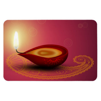 Skina lyckliga Diwali Diya - böjlig magnet