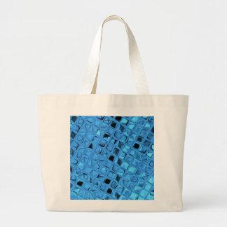 Skina metallisk mode för blåttdiamantstrand jumbo tygkasse