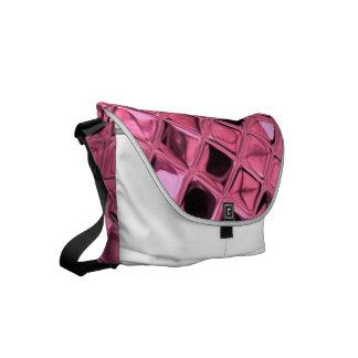 Skina metallisk rosa diamant kurir väskor