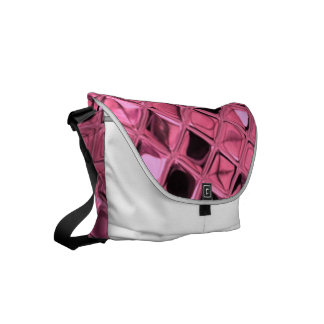 Skina metallisk rosa diamant messenger bag