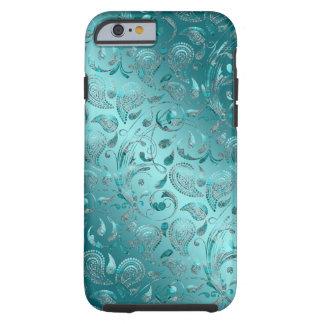 Skina Paisley turkos Tough iPhone 6 Fodral