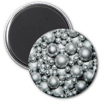 Skina silvermetallpärlor magnet