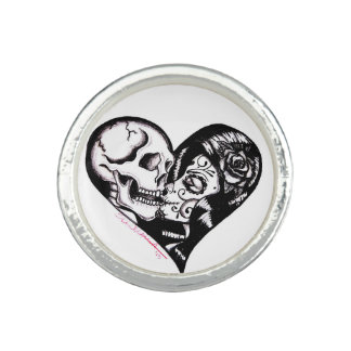 """Skinderellas ring för silver """"för hjärtakyss"""""""