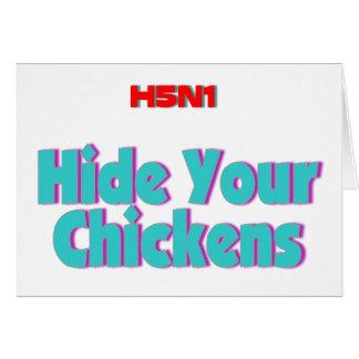 Skinn H5N1 dina hönor Hälsningskort