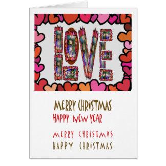 Skinn ingenting som är förälskat: God jul NewYear Hälsningskort