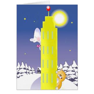 skinn och torn hälsningskort