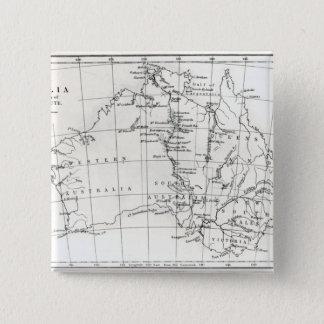 Skissa kartan av Australien Standard Kanpp Fyrkantig 5.1 Cm