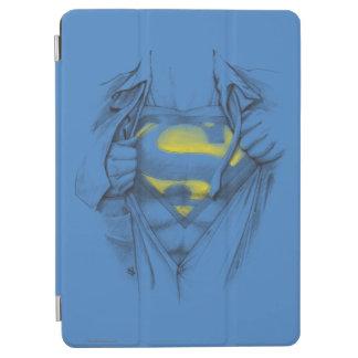 Skissad bröstkorgstålmanlogotyp iPad air skydd