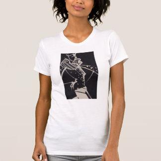 Skissar Retro kickmode för svarten & för vit T Shirt
