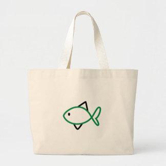 Skissera fisken jumbo tygkasse