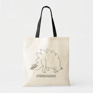 Skissera konstteckningen - stegosaurusen, kanfas tygkasse