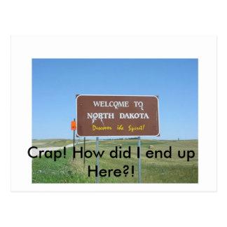 Skit! North Dakota vykort