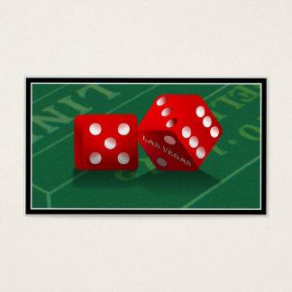 Skitar bordlägger med Las Vegas tärning Visitkort
