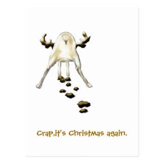 Skiten är det jul igen vykort