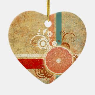Skiva av citrusabstrakt julgransprydnad keramik