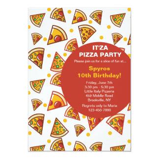 Skiva av Pizzainbjudan 12,7 X 17,8 Cm Inbjudningskort