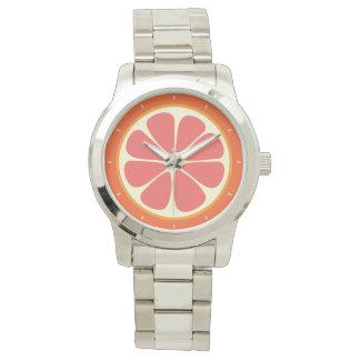 Skiva för citrusfrukt för röd grapefrukt för Ruby Armbandsur
