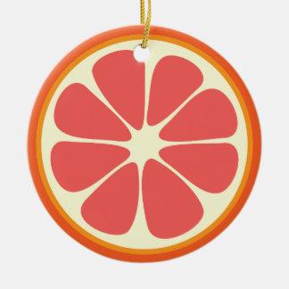 Skiva för citrusfrukt för röd grapefrukt för Ruby Julgransprydnad Keramik