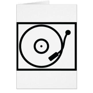 skivspelareturntablesymbol hälsningskort