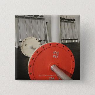 Skivstång i idrottshall standard kanpp fyrkantig 5.1 cm