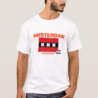 Skjorta för Amsterdam* Nederländernaflagga T Shirts