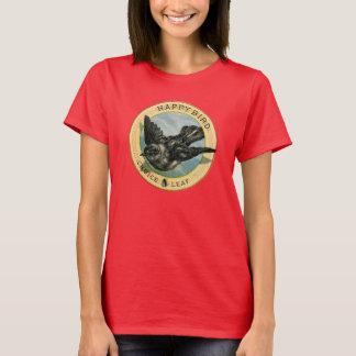 Skjorta för annonsering för löv för lycklig fågel tröja