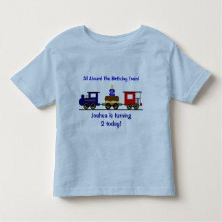 Skjorta för anpassadefödelsedagtåg t-shirt