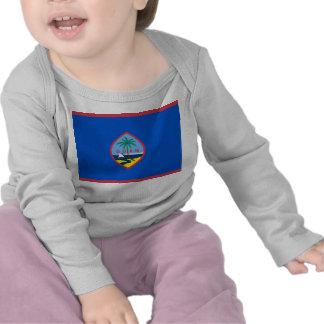 Skjorta för baby T med flagga av Guam, USA Tee Shirts