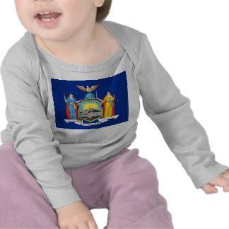 Skjorta för baby T med flagga av New York, USA Tröja
