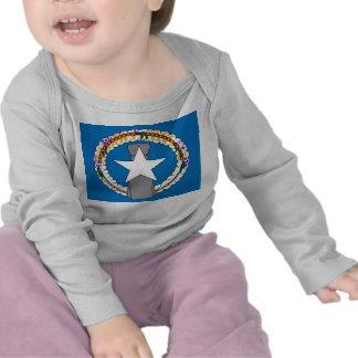 Skjorta för baby T med flagga av Northern Mariana  Tröjor