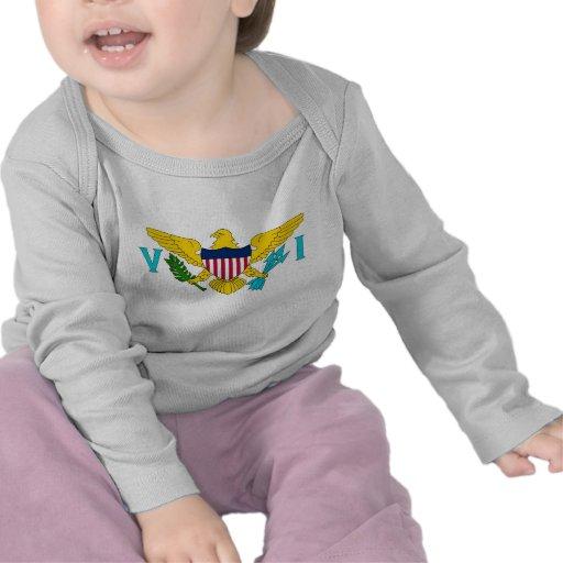 Skjorta för baby T med flagga av Virgin Islands, U Tröja
