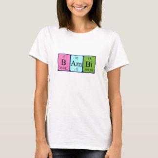 Skjorta för Bambi periodisk bordnamn T-shirt