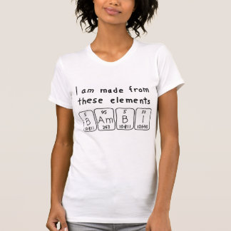 Skjorta för Bambi periodisk bordnamn Tee Shirt