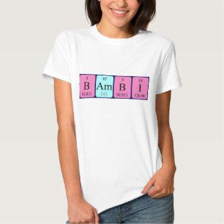 Skjorta för Bambi periodisk bordnamn Tshirts