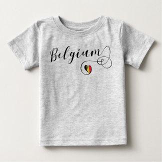 Skjorta för Belgien hjärtautslagsplats, belgisk Tee Shirt
