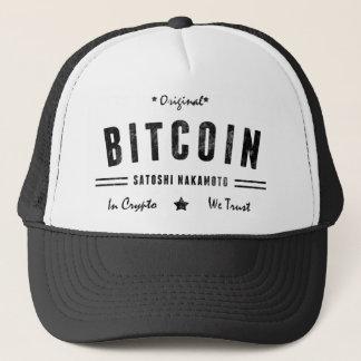 Skjorta för Bitcoin original- Satoshi Crypto Truckerkeps
