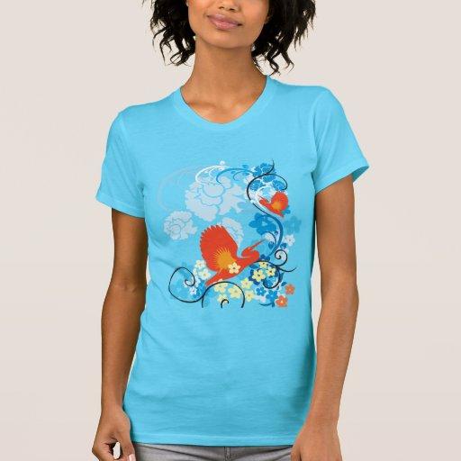 Skjorta för blommadekor 70 tee