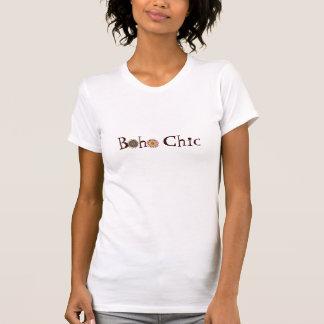 Skjorta för Boho chic blommalogotyp T Shirts