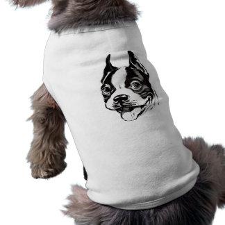 Skjorta för Boston Terrierhusdjur Husdjurströja