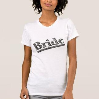 Skjorta för brudzebra tryckbröllopsfest T T Shirts