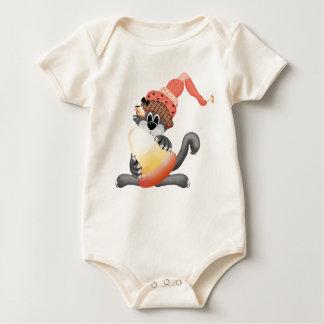 Skjorta för bus eller godisHalloween baby Creeper