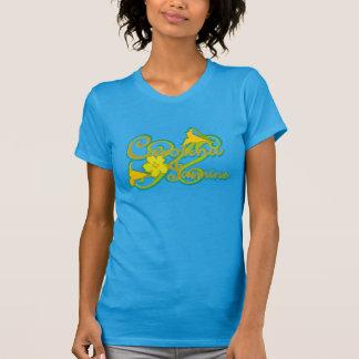Skjorta för Carolina jasmin (blått) T Tee