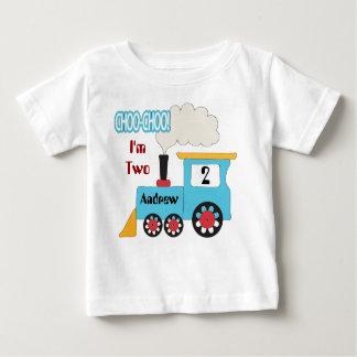 Skjorta för Choo Choo tågfödelsedag T-shirt