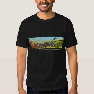 Skjorta för Christchurch jordskalvFundraiser Tee Shirt