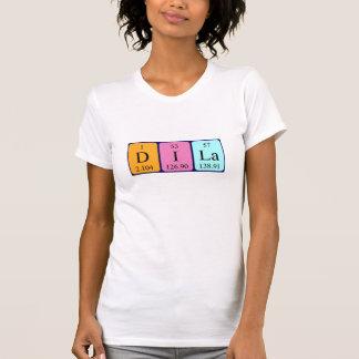 Skjorta för Dila periodisk bordnamn Tee Shirt