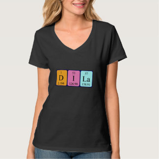 Skjorta för Dila periodisk bordnamn Tee Shirts