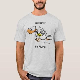Skjorta för flyg för Ding anka rolig Tee Shirt