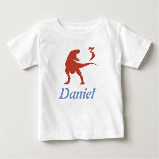Skjorta för födelsedag för pojkeDinosaur 3rd Tröjor