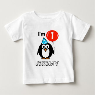 Skjorta för födelsedagsfest för personligbabys 1st tee shirt