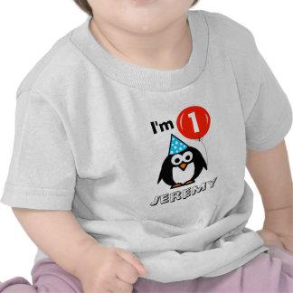 Skjorta för födelsedagsfest för personligbabys 1st t-shirt